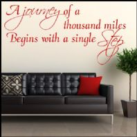 A Journey of a Thousand Miles ~ Wall sticker / decals